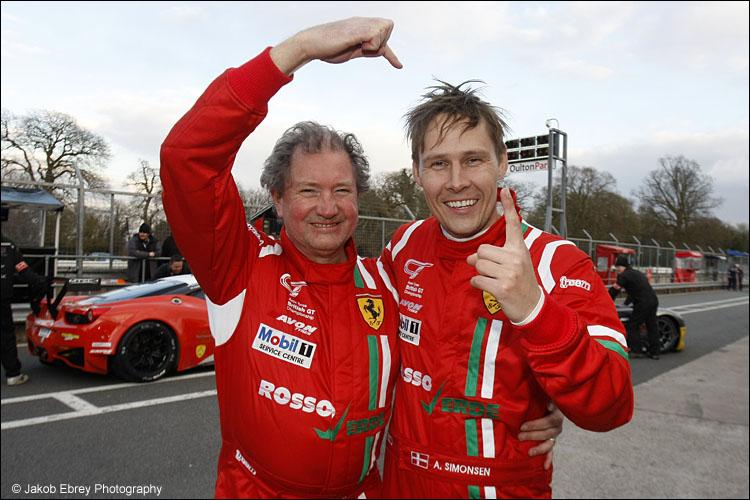 Hector Lester / Allan Simonsen Rosso Verde Ferrari 458 Italia GT3