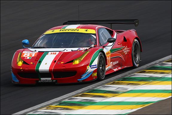 15th, #81, Stephen Wyatt, Michele Rugolo, Andrea Bertolini, Ferrari 458 Italia