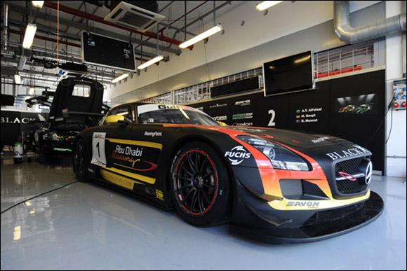 #1 Abu Dhabi Racing Black Falcon, Khaled AL Qubaisi, Jeroen Bleekemolen, Bernd Schneider, Mercedes SLS AMG GT3