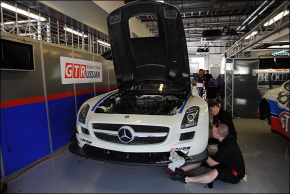 #10 GT Russian, Alexey Vasilyev, Marko Asmer, Karim Al Azhari, Mercedes SLS AMG GT3
