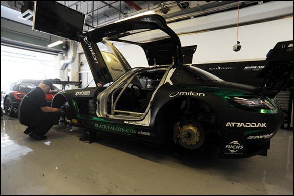 #2 Black Falcon, Abdulaziz Al Faisal, Hubert Haupt, Richard Muscat, Mercedes SLS AMG GT3