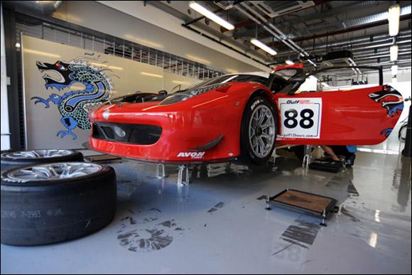 #88 Dragon Racing, Jordan Grogor, Sean Walkinshaw, Mohammed Jawa, Ferrari 458 GT3