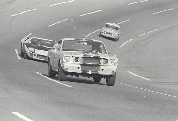 Privately owned Shelby GT350 Mustang driven by Roger West/Richard Macon