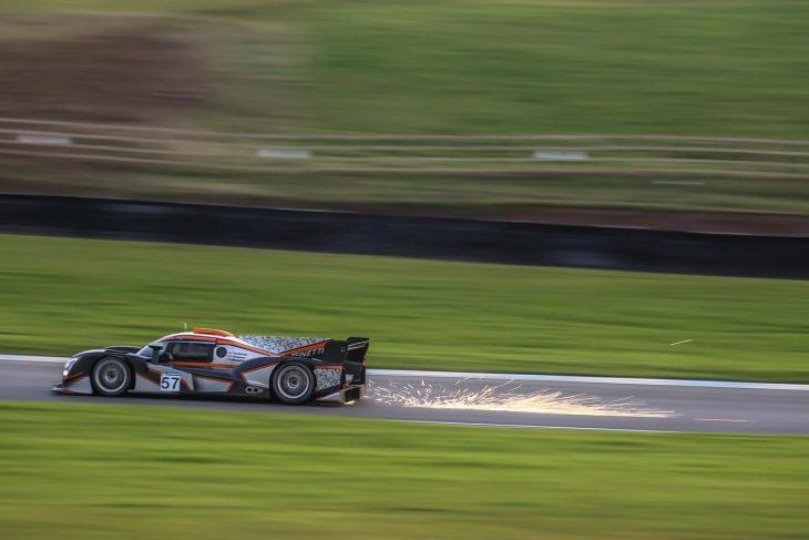 Ginetta G57 at Donington Park test day.