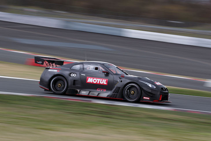2018 nissan gt.  nissan krumm were joined at the test by mitsunori takaboshi who is competing  in this seasonu0027s super gt gt300 class driving current model nissan gtr inside 2018 nissan gt