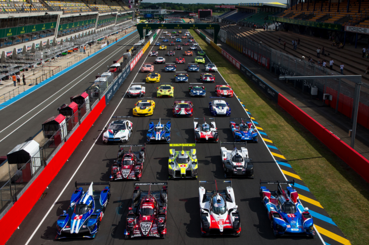 the 2018 le mans 24 hours grid assembles. Black Bedroom Furniture Sets. Home Design Ideas