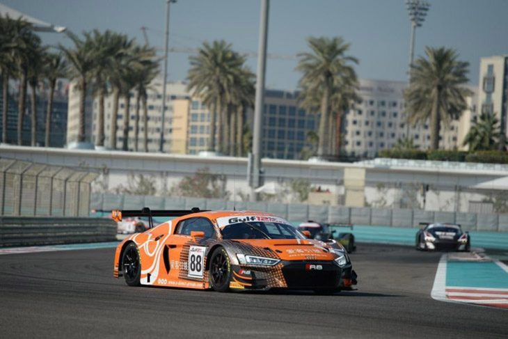 88 Audi Leads From New Mclaren 720s Gt3 In Gulf 12 Hours Part 1