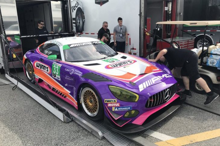 First Pictures Of The New Livery And Sponsor For 33 Mercedes Amg Team Riley Motorsports Gt3 Have Emerged As Cars Are Unloaded At Daytona