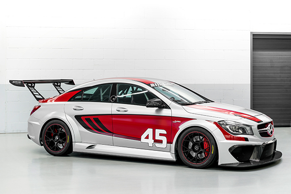 The Near Standard Four Door Cla 45 Amg Racing Series High Performance Coupé Is Intended For Race With Turbocharged 2 0 Litre Cars And