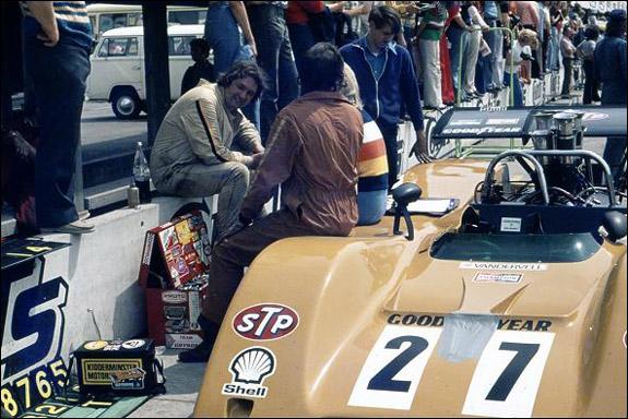 David Hepworth on the pit counter at Hockenheim (Ian Wagstaff)
